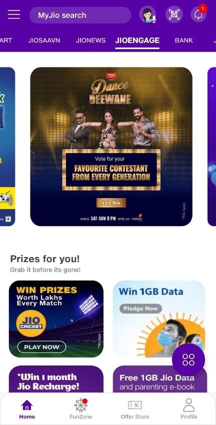 Dance Deewane 3 Vote With MyJio App